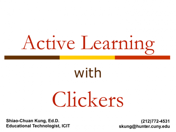 Old ActiveLearningClickers PowerPoint